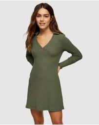 TOPSHOP Petite - Petite Collared Mini Dress