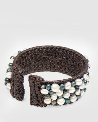 Marlafiji Raj  Cuff Bracelet - Jewellery (Black)