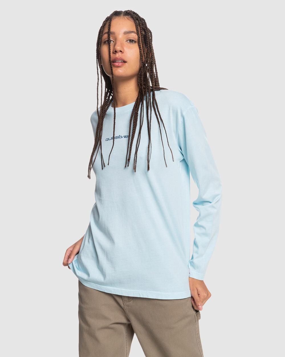 Quiksilver - Womens Standard Organic Long Sleeve T Shirt - Long Sleeve T-Shirts (CRYSTAL BLUE) Womens Standard Organic Long Sleeve T-Shirt