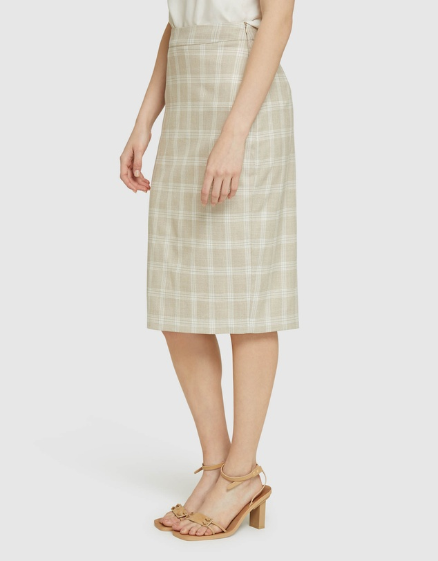 Women Peggy Check Suit Skirt