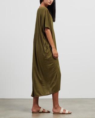 Andrea & Joen Martine V Dress - Dresses (Olive)