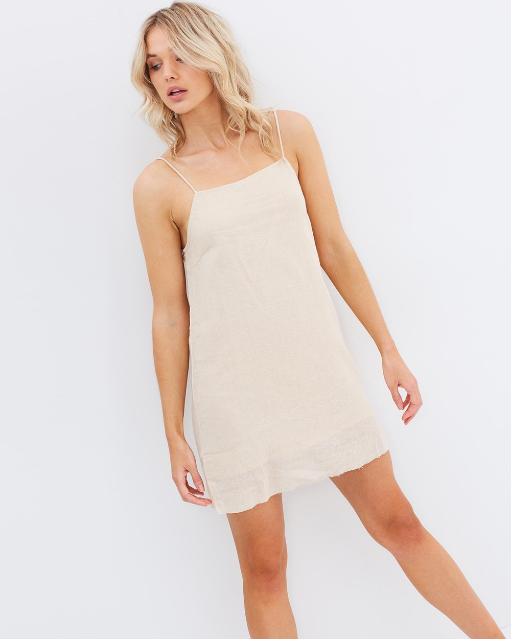 Rue Stiic Gilmore Mini Dress Dresses Sand Linen Gilmore Mini Dress