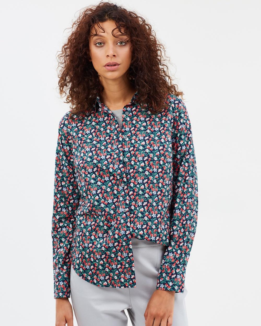 J.Crew Perfect Shirt in Liberty® Sarah Tops Navy Poppy Perfect Shirt in Liberty® Sarah