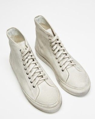 Locale Bronx Canvas High Top Sneakers - Sneakers (Dirty White)