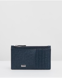 BOSS - Signature Zip Card Case