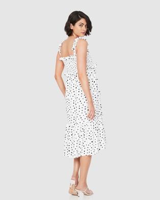 Soon Maternity Adelaide Dress - Printed Dresses (white)