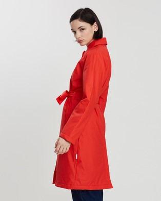 RAINS W Trench Coat - Coats & Jackets (Red)