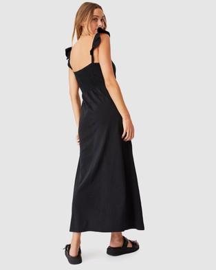 Cotton On Selena Shirred Maxi Dress - Dresses (Black)