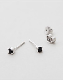 SAINT VALENTINE - Cannes Black Quartz Stud Earrings