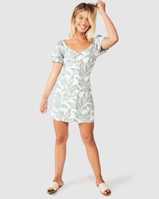 Cotton On Woven Aurora Short Sleeve Mini Dress - Printed Dresses (Isla Tropical Jadeitte)