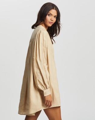 AERE Pleat Front Smock Dress - Dresses (Neutral)