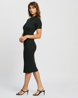 Atmos&Here Lulu Midi Dress - Bodycon Dresses (Forest Green)