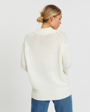 Atmos&Here Avril Relaxed Knit Sweater - Jumpers & Cardigans (Off White)