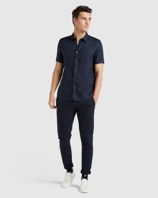 French Connection Linen Regular Fit Shirt - Casual shirts (OXFORD BLUE)