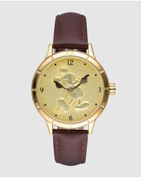 Disney - Mickey Gold Sculpted Dial Watch