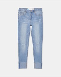 Free by Cotton On - Wide Cuff Jeans - Teens