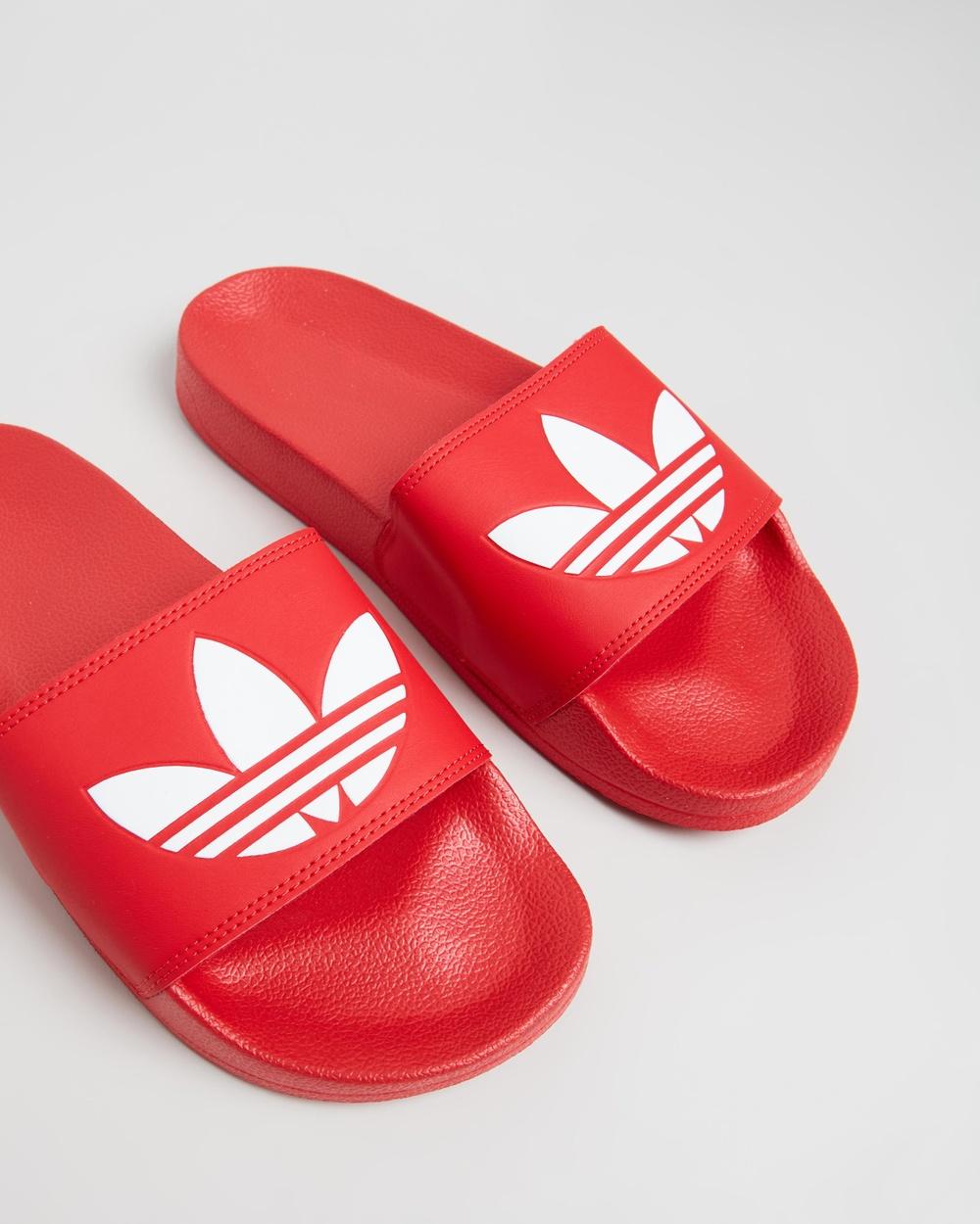 adidas Originals Adilette Lite Unisex Slides Scarlet & Footwear White