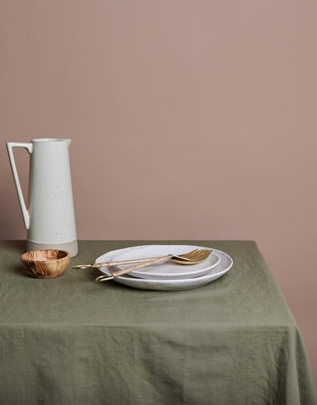 Life Shore Large Linen Tablecloth
