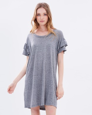 Current/Elliott – The Ruffle Roadie Dress Heather Grey