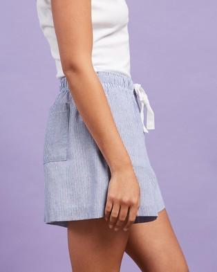 Nude Lucy Nude Classic Shorts - Shorts (Capri Blue Stripe)