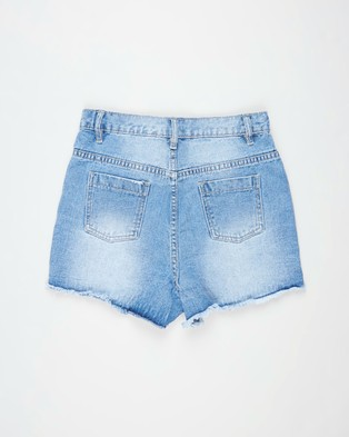 Free by Cotton On Sully Denim Shorts   Teens - Denim (Weekend Wash & Rips)