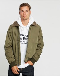 Abercrombie & Fitch - Sherpa Collar Bomber