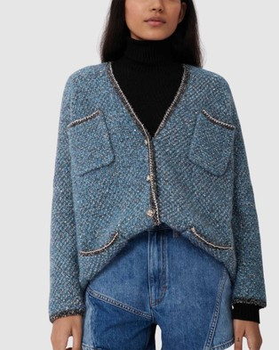 Maje Miso Cardigan - Jumpers & Cardigans (BLUE)