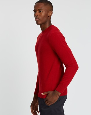 Kent and Curwen - Knit Sweater - Jumpers & Cardigans (Red) Knit Sweater