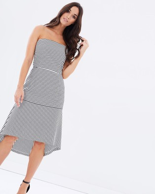 Cooper St – Another Time Strapless Dress Stripe