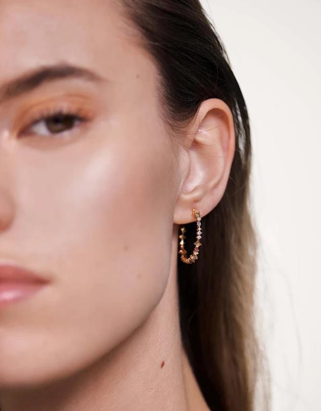 Women Halo Gold Earrings