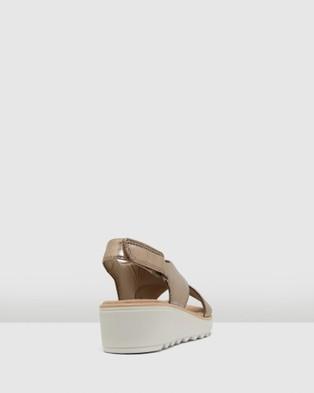 Clarks Jillian Jewel - Sandals (Metallic Leather)