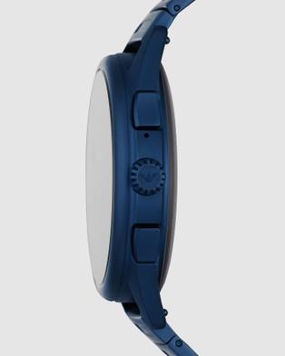 Emporio Armani Blue Smartwatch - Smart Watches (Blue)