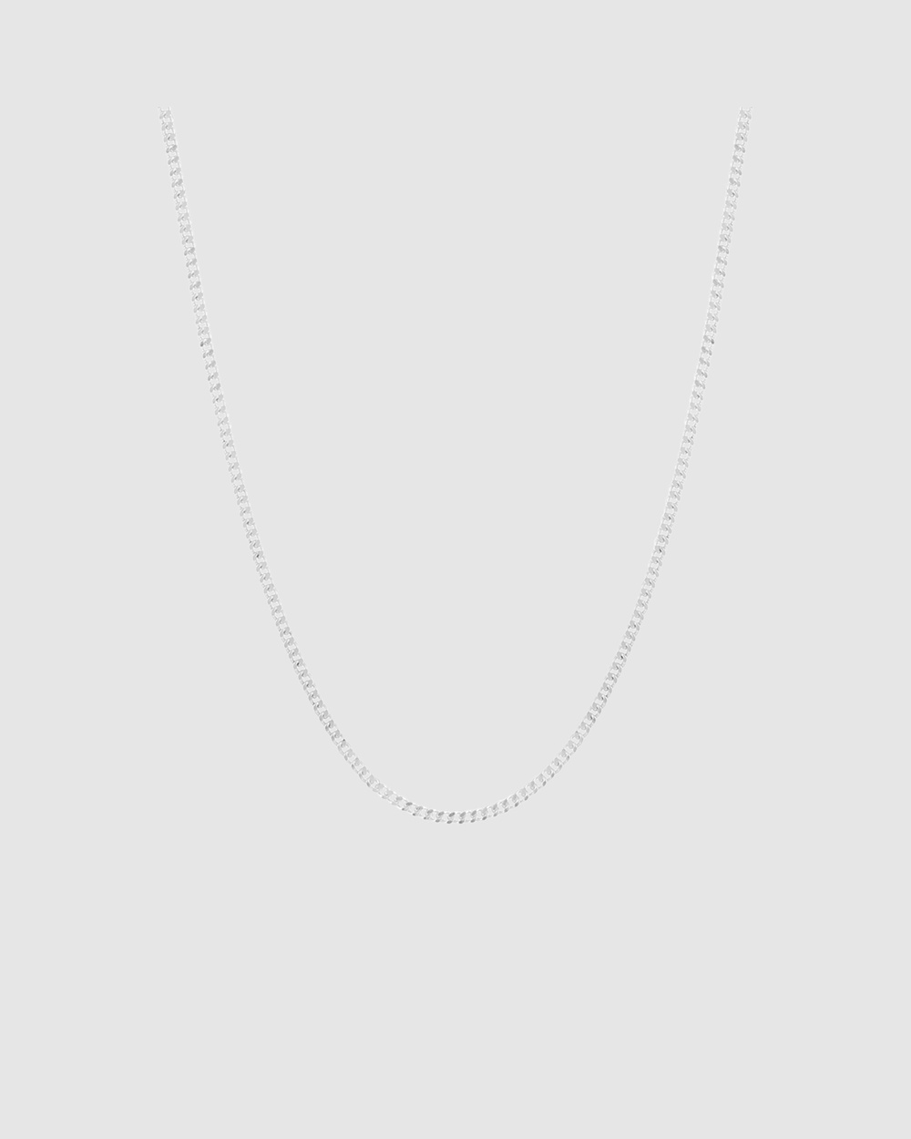 Michael Hill 70cm Curb Chain in Sterling Silver Jewellery Silver