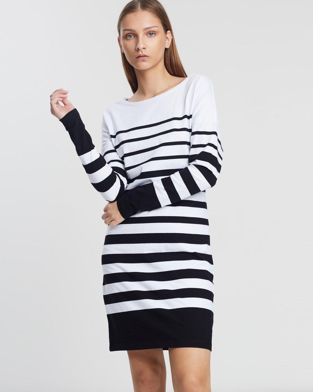 2e00f34f44e8b Breton Stripe Dress by Maison Scotch Online | THE ICONIC | Australia