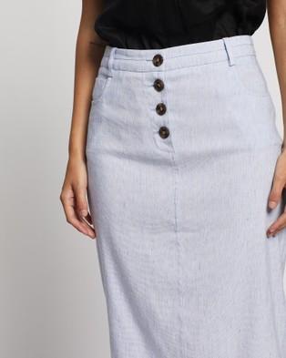 David Lawrence Portia Linen Skirt - Pencil skirts (LIGHT BLUE)