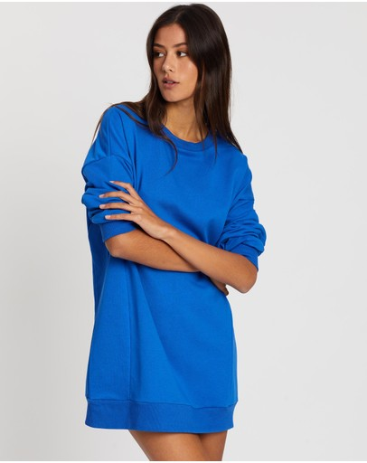 Dazie Oversized Sweater Dress Blue