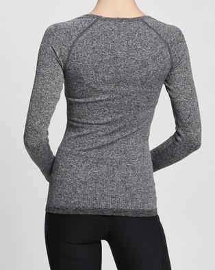 Aim'n Ribbed Long Sleeve Top - Long Sleeve T-Shirts (Grey Melange)