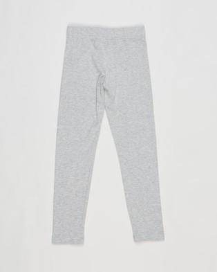 adidas Performance Essentials Linear Leggings   Kids Teens - Full Tights (Medium Grey Heather & Hazy Rose)