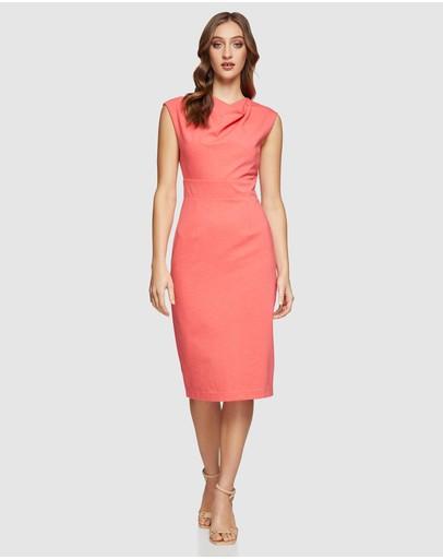 Oxford Meghan Ponti Dress Coral