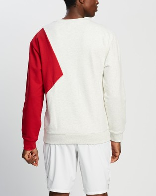 New Balance NB Athletics Village Fleece Crew - Crew Necks (Sea Salt Heather)