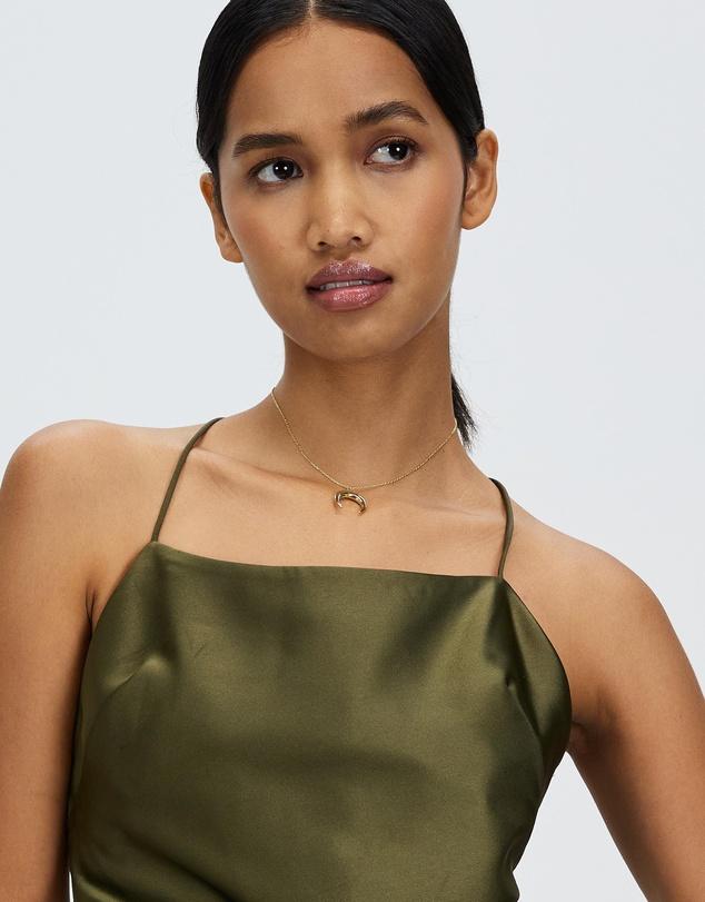 Women Large Horn Necklace