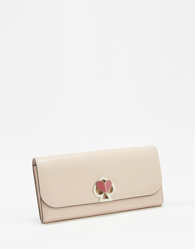 Kate Spade - Nicole Twist-Lock Flap Continental Wallet