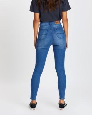 Lee High Licks Crop Jeans - Crop (Stellar Blue)