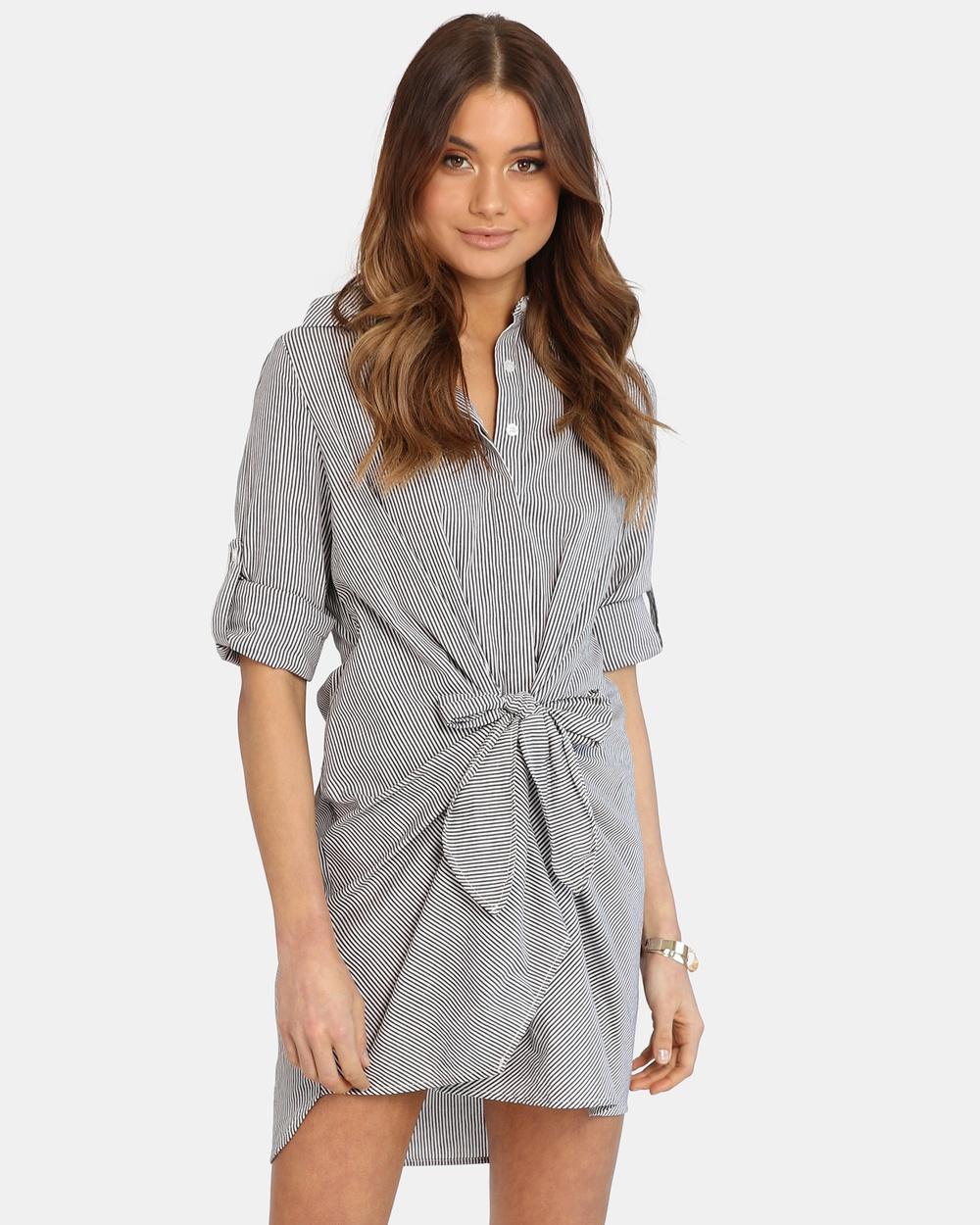 Madison The Label Black Shoni Shirt Dress