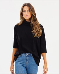 Faye Black Label - Boxy Cowl Neck Top