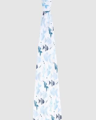 Aden & Anais - Single Classic Swaddle - Wraps & Blankets (Gone Fishing) Single Classic Swaddle