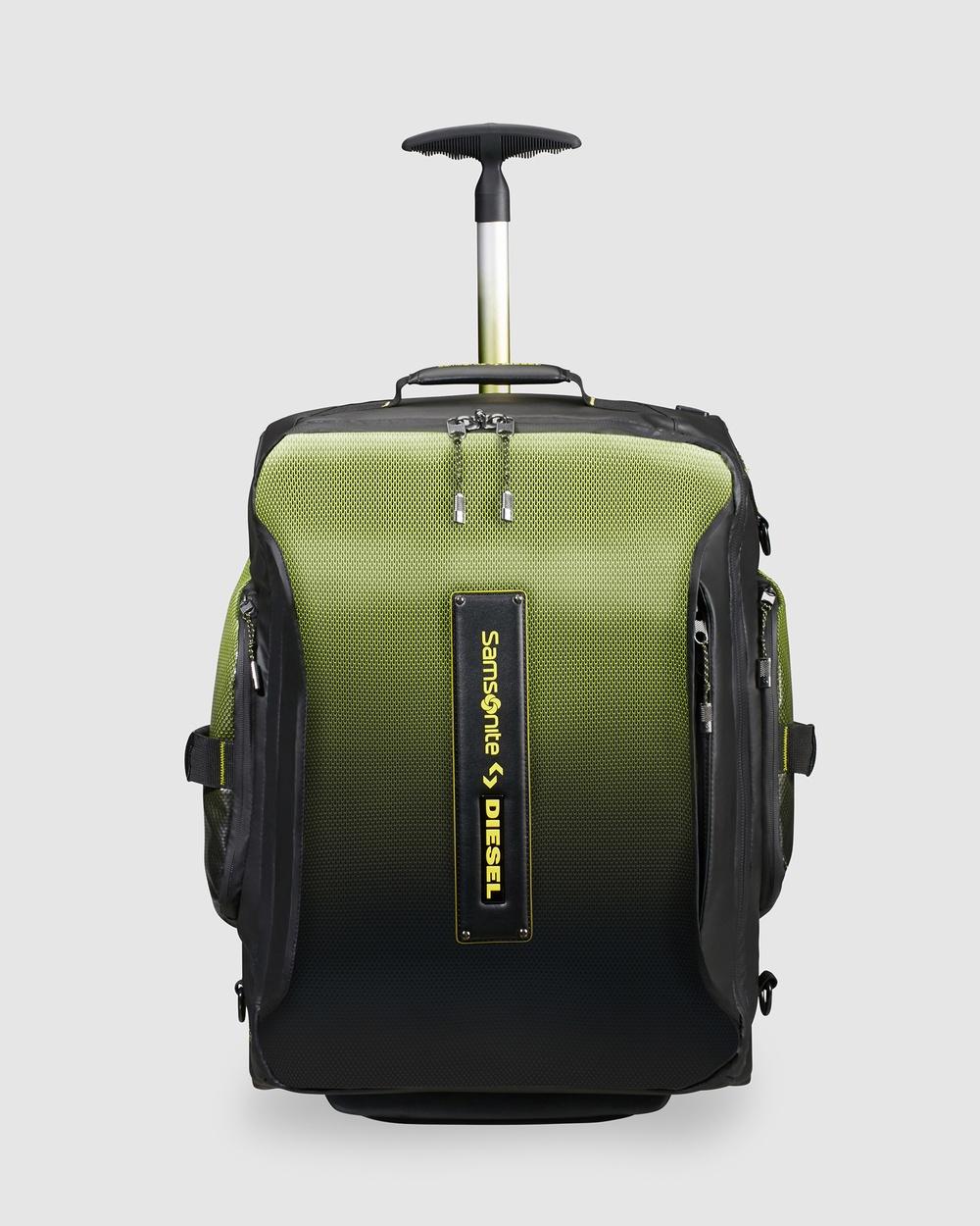 Samsonite Business Paradiver X Diesel Duffle Backpack 55cm Backpacks Black & Yellow
