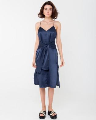 Carver – Elle Midi Dress Navy