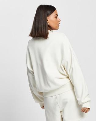 AERE Organic Cotton Comfort Sweat Top - Sweats (Cream)