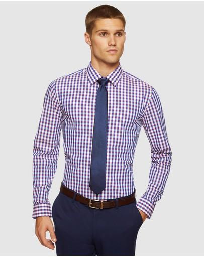 Oxford Beckton Checked Shirt Red/navy